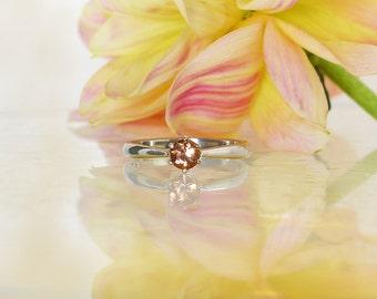 Citrine Ring, Citrine Silver Ring, Citrine Sterling Ring, Rare Madeira Citrine, November Birthstone Ring, Orange Gemstone Ring