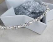 Wedding Headband - Pearl Wedding Headband - Wedding Hair Accessories (WHPW2)