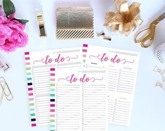 Daily To Do List Printable, Weekly To Do List Planner Insert, Printable To Do List, Project To Do List, To Do Planner, Letter Size Planner