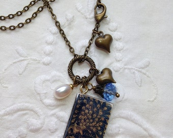 Pride and Prejudice Book Charm Necklace.