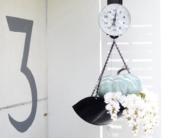 Vintage Hanging Kitchen Scale - Farmhouse Fresh Produce - Rustic and Industrial (SALE - Was 209.00)