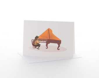 "Greetings card: ""Jazz piano"" Size A6 with envelope"