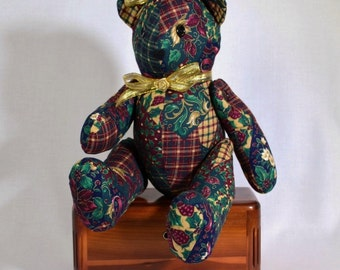 Christmas Teddy Bear Unique Gift for Bear Collector