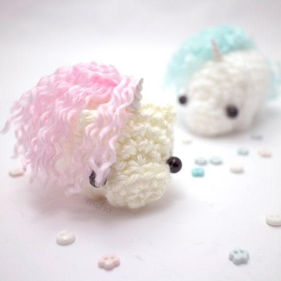 Crochet Unicorn Hair : crochet unicorn amigurumi by mohustore on Etsy