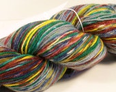 Hand Painted Corriedale, Nylon Sock yarn, 434 yards, 3ply, fingering weight, SuperWash,sock blank, yarn blank, self striping