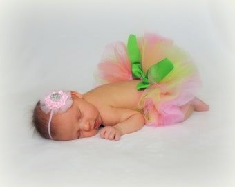 Infant tutu baby tutu newborn tutu for photo prop princess baby photo prop pink baby tutu princess tutu baby girls skirts cottage chic baby