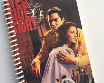 WEST SIDE STORY Notebook Journal upcycled spiral Musical Vhs movie