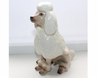 Hand painted poodle figurine. Tito Spain