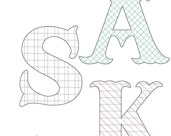 Lattice Monograms Pattern - Embroidery & Quilting
