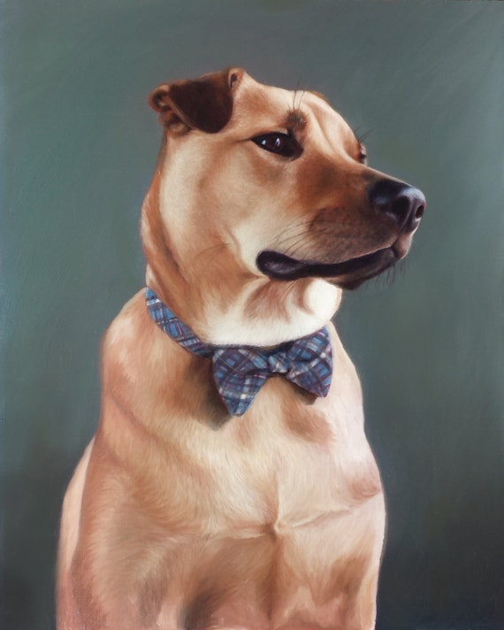 CUSTOM PET PORTRAIT - Oil Painting - Commissioned Painting - Dog Portrait - Pet Portrait