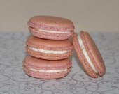 Edible Gift Almond  Macaron Rose Water Vanilla  French  Almond Edible  Gift Favor