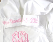 Button Down Shirt, Bride Button Down, Personalized Bride Shirt, Getting Ready Shirt, Monogrammed Shirt, I Do, Wedding Day Attire