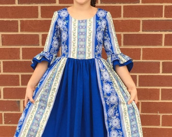 Custom colonial dress sizes 10-14
