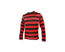 Men's Long Sleeve Black & Red Striped Shirt