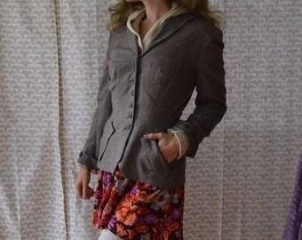 40's Gray Blazer / Tailored Women's Jacket