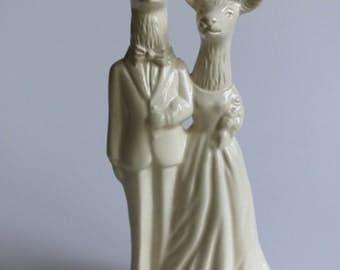Deer Couple Handmade Wedding Cake Topper