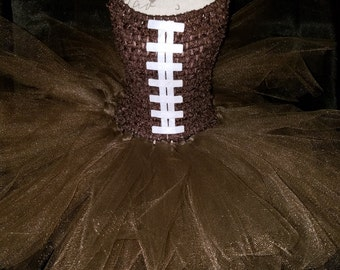 Football baby tutu dress & Hair accessories