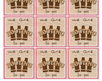 """Appreciation Gift Tags """"We are ROOTING for you"""" Root beer Gift Tags"""