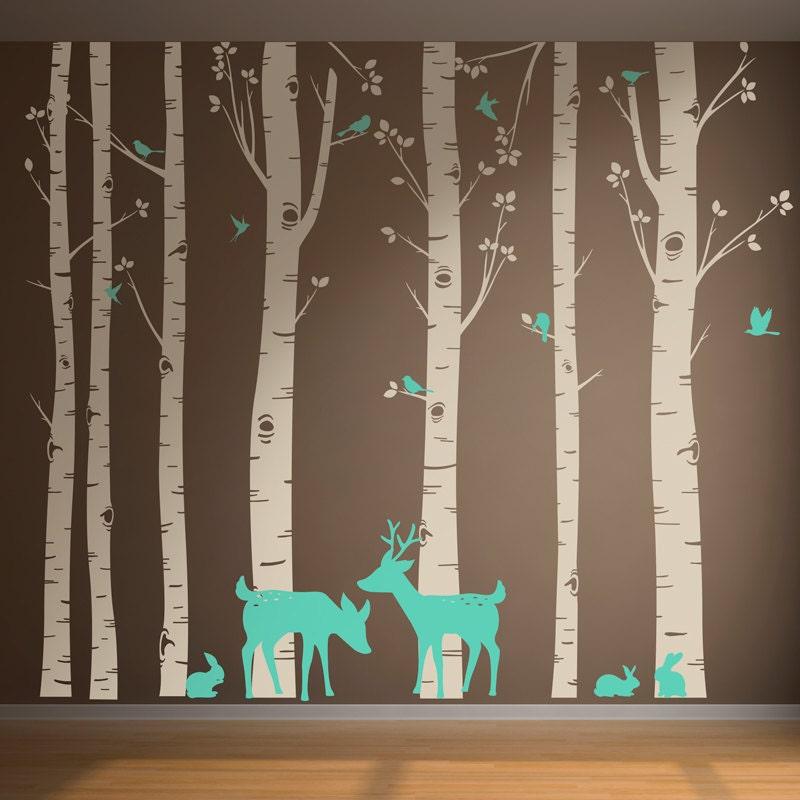 incredible birch tree wall - photo #27