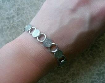 Vintage Victorian Style Bracelet - Silver Engraved Floral Bohemian Bracelet - Vintage Designer Jewelry Bracelet - Sarah Coventry