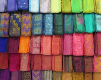 60 Yards of Silk Sari Borders, C78