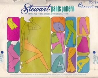 Versatile Stewart Pants Pattern Uncut