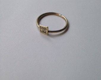 Good Luck Ring/Brass/Size8
