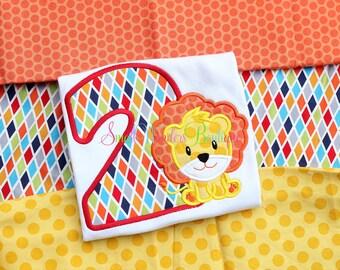 Circus Birthday Shirt - Circus Embroidered Shirt - Circus Lion Birthday - Circus Birthday Shirt - Circus Shirt - Boys or Girls Circus Shirt