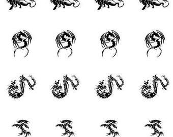 Nail Decal-Dragons