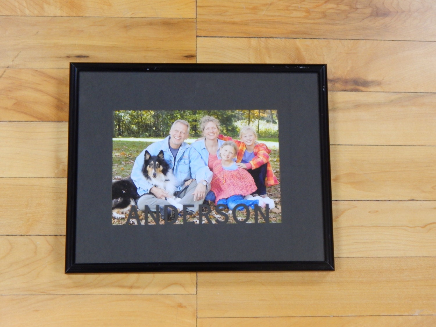 custom personalized family name picture mat and frame. Black Bedroom Furniture Sets. Home Design Ideas