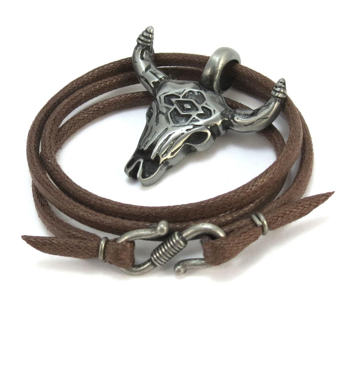 southwestern necklace bull skull necklace mens skull