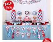 Little Man Mustache Birthday Party Package Personalized FULL Collection Set - PRINTABLE DIY - PS829CA1x