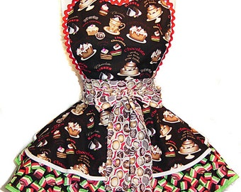 Chocolate Lovers Retro Apron. Ready-To-Ship!