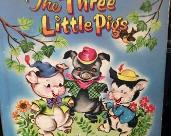 The Three Little Pigs, Illustrated by Louise W. Myers, Whitman Publishing Tell-A-Tale, 1953