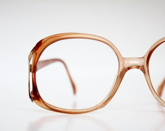 Oversized Amber Sunset Eyeglasses Frames