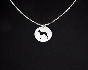 Saluki Necklace - Saluki Jewelry - Saluki Gift