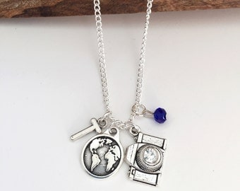 Personalized World Photography Necklace