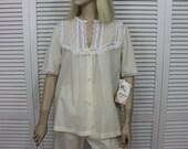 Vintage Pajama Set Yellow New Old Stock Size Small Barbizon