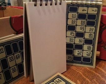 Upcycled Vintage Game Card Notepad {Spiral Bound}