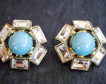 VINTAGE TURQUOISE POST earrings