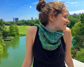 PDF KNITTING PATTERN - Electric - easy to make cowl neck warmer for winter - Knitarelli Patterns
