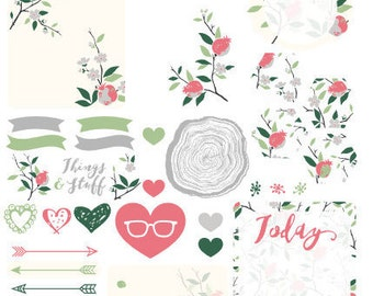 Floral/Nature - Planner Stickers