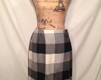 Vintage Michele Plaid Wrap Skirt Size 10 Sale b5