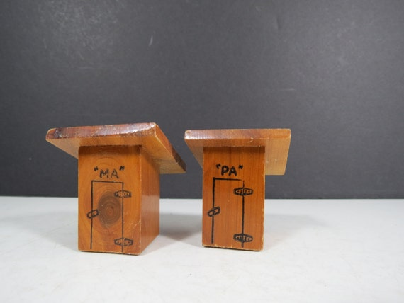 Retro Outhouse Salt And Pepper Quirky Unusual By Thisattic