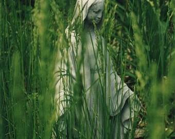 "Virgin Mary Art Mother Mary Art Christian Devotion PRINT 8"" X 10"""