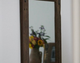 SET OF TWO - 24x36 Reclaimed Wood Bathroom Mirror Pair - Rustic Modern Home Decor - Eco Friendly - Hurd and Honey - Home - Mirror