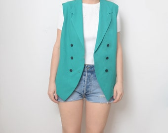 Vintage mint green 90s women vest