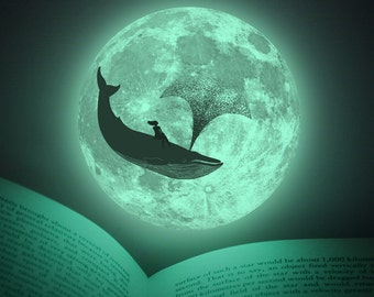 Luminous Moonlight Dreams (glow-in-the-dark moon sticker special edition)