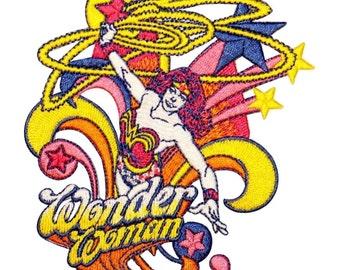 Wonder Woman Warrior Princess Superhero DC Comics Embroidered Iron On Applique Patch