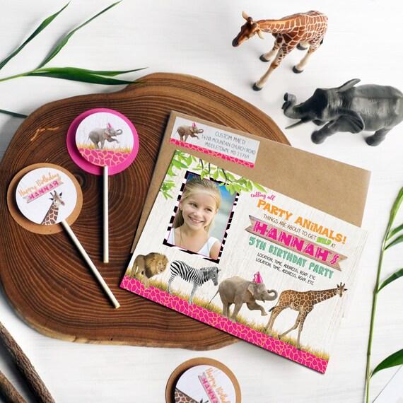 safari birthday invitation zoo birthday invitation party